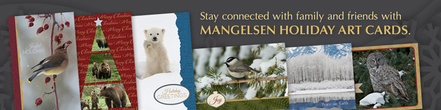 Send Mangeslen holiday cards to your loved ones this year.