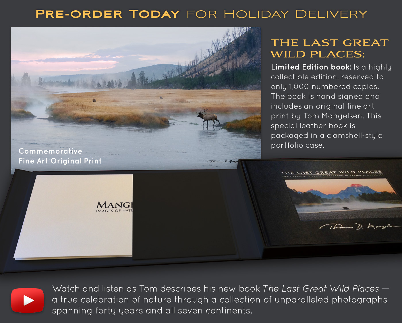 Pre-order Tom's book now and bring a little bit of wildness into your home or office!