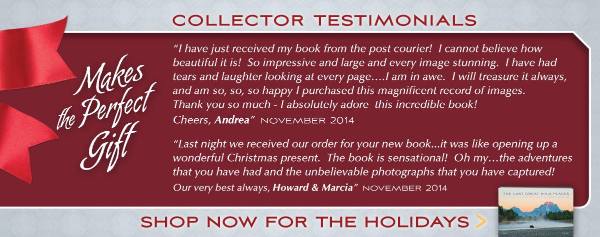 Collector Testimonials about Mangelsen's new book
