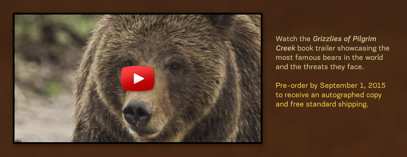 Watch a video trailer about Tom's new book Grizzlies of Pilgrim Creek.