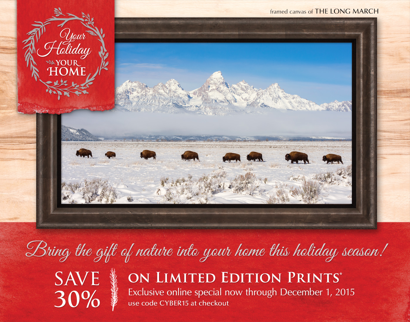 Bring the gift of nature into your home this holiday season!