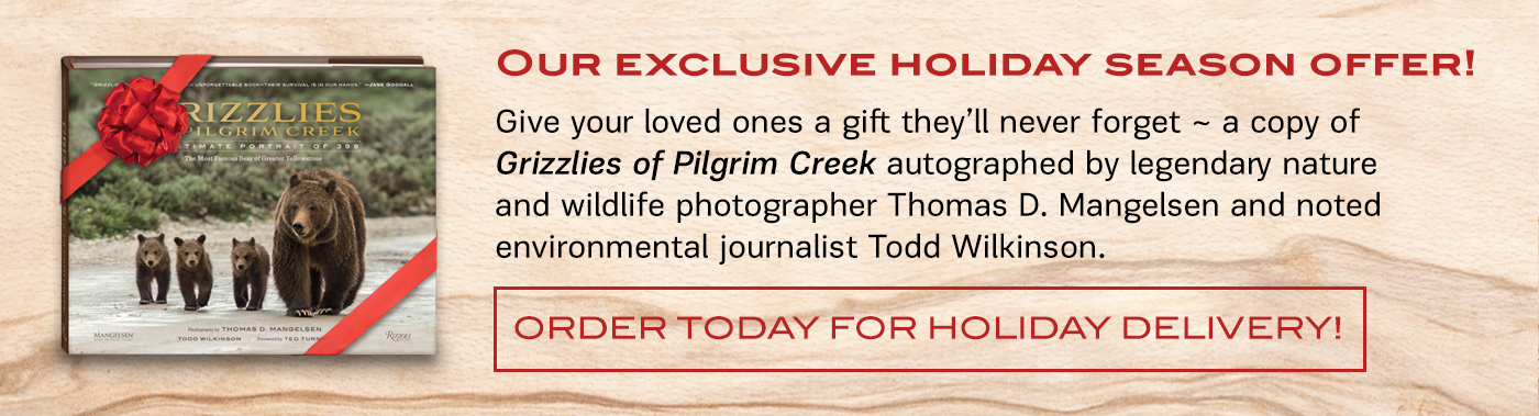 Tom's new book titled Grizzlies of Pilgrim Creek available in hardcover, delux leather and limited editions