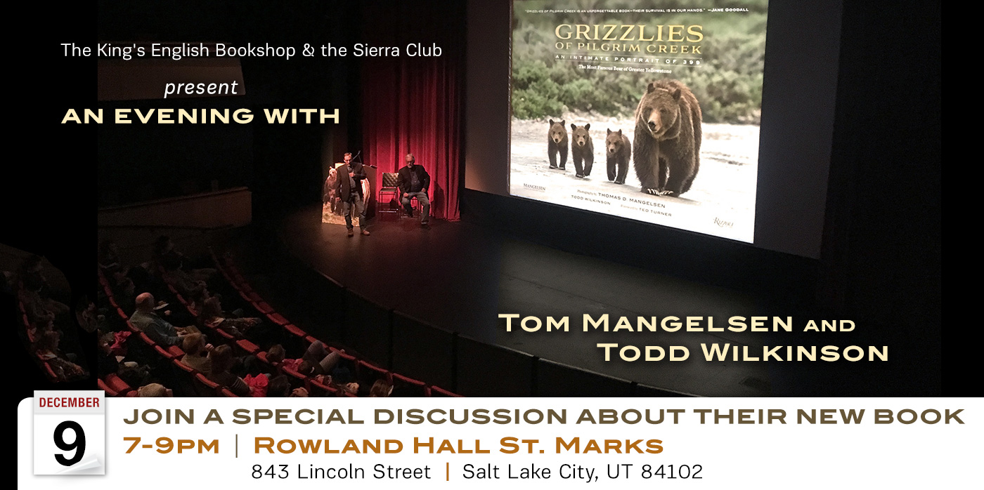 You're invited to spend an evening with Mangelsen and Wilkinson as they discuss the dramatic story of famous mother bear Grizzly 399