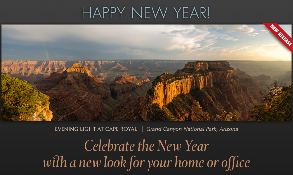 Choose a new release image to freshen up your home or office for the new year.