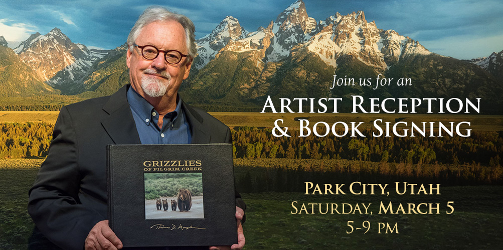 You are cordially invited to an Artist Reception and Book Signing in Park City, Utah.