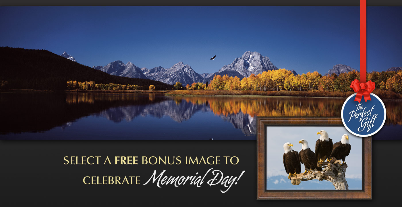 Limited edition photograph titled High Noon on the Oxbow Bend. Display option shown: Museum Mounted Print