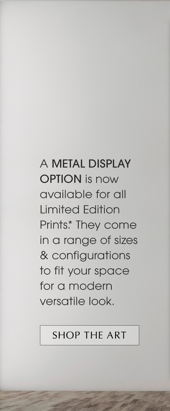 A new Metal Print Display Option is now available.