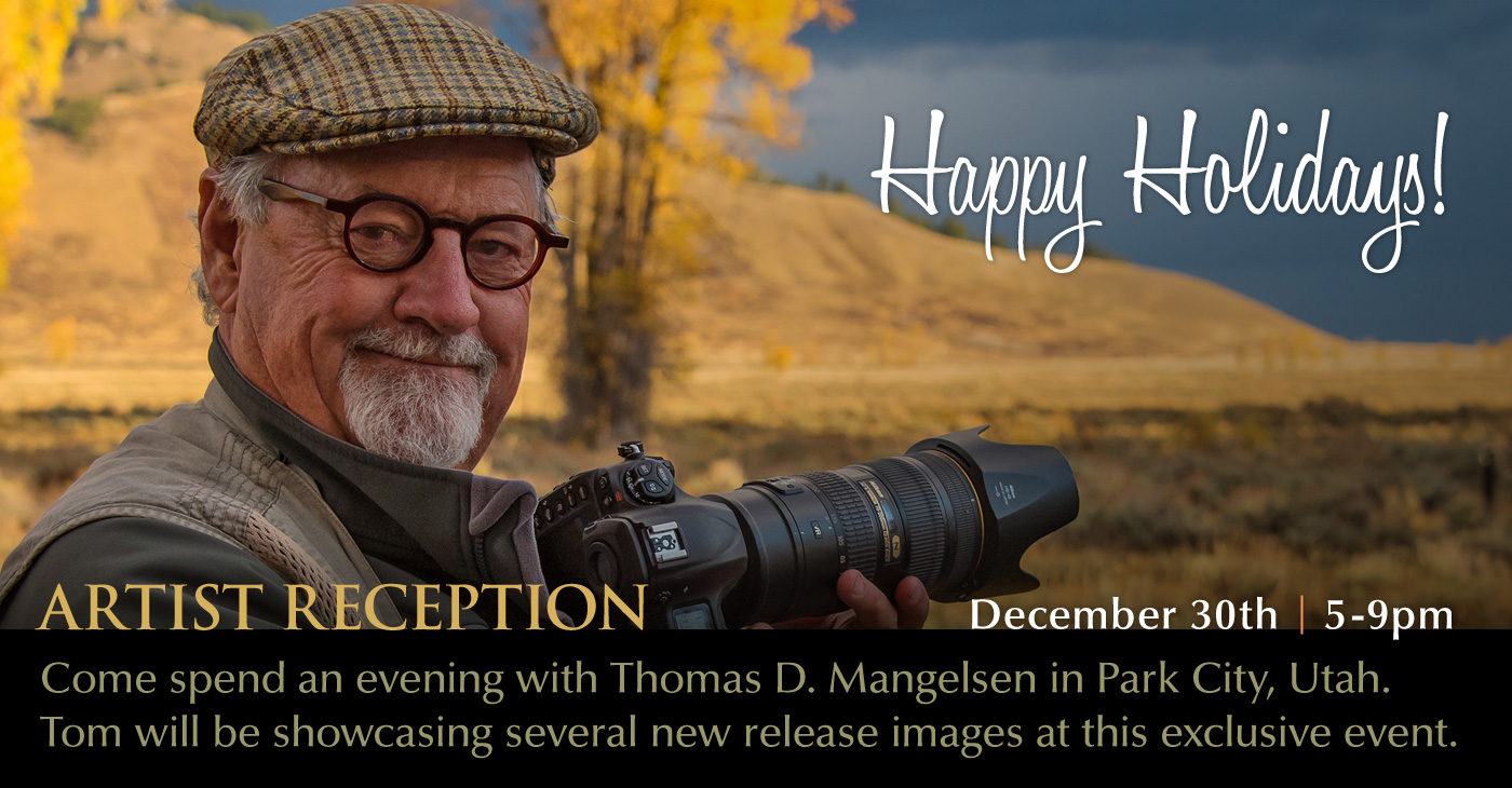 Join us for a holiday reception in Park City. Tom will be available throughout the evening to autograph your holiday gifts.