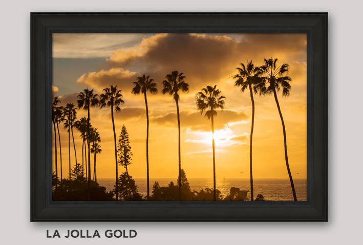 Framed, Open Edition Art titled La Jolla Gold