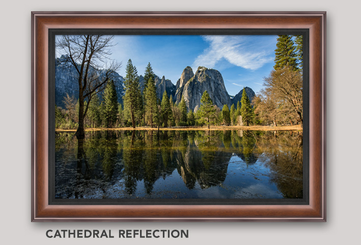 Framed, Open Edition Art titled Cathedral Reflection