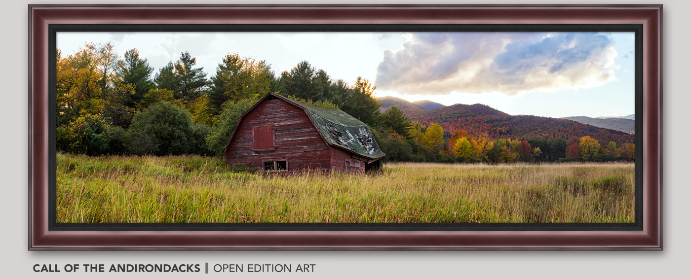 Framed Open Edition Art titled Call of the Adirondacks