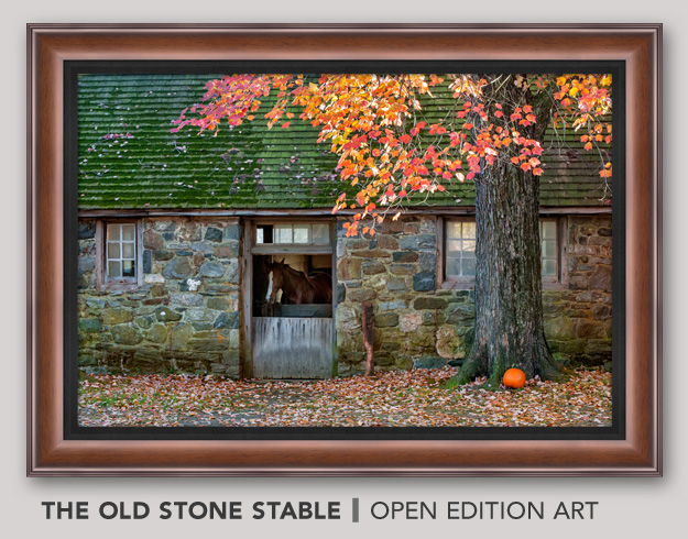 Framed Open Edition Art titled The Old Stone Stable