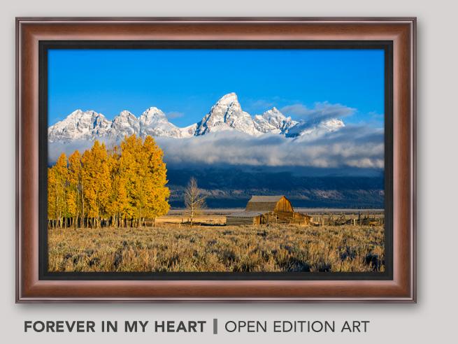 Framed Open Edition Art titled Forever in my Heart
