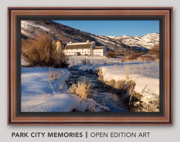 Framed Open Edition Art titled Park City Memories