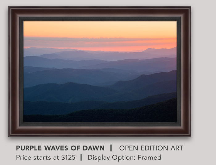 Open Edition titled Purple Waves of Dawn