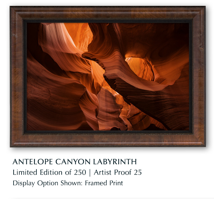 Limited Edition titled Antelope Canyon Labyrinth