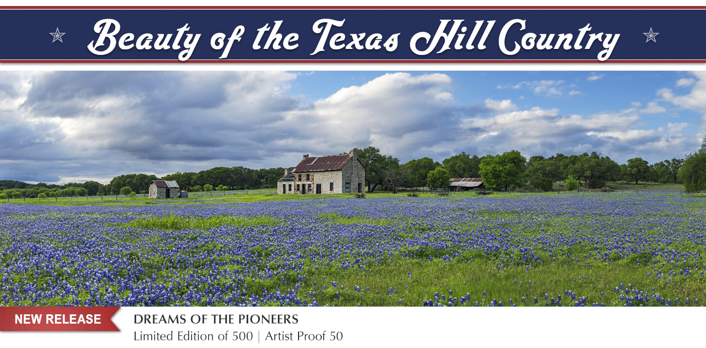 New release limited edition images photographed in the heart of Texas Hill Country