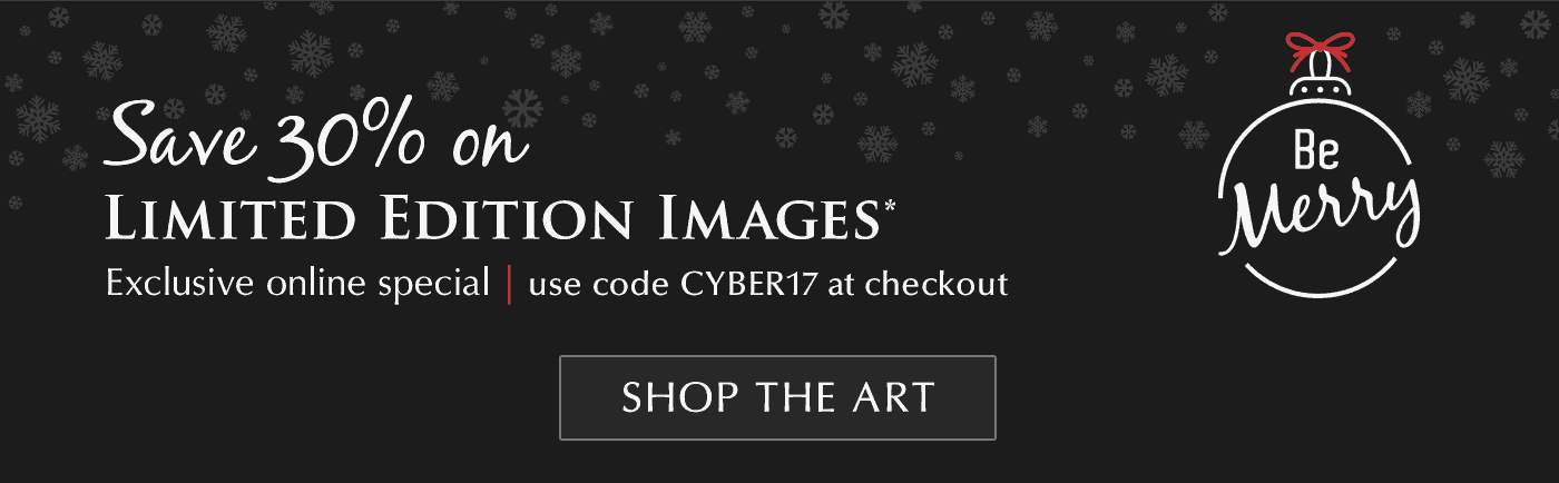Shop THE ART: to give the gift of nature and save 30% on Limited Edition Images