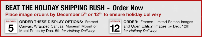 Our original art is made to order. Please see our holiday delivery schedule.
