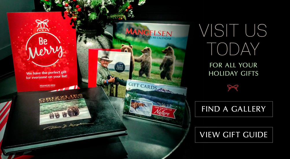 We have gifts for everyone on your list! Visit a gallery or view the Mangelsen Gift Guide.