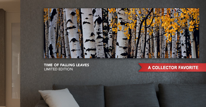 A Collector Favorite Limited Edition titled Time of Falling Leaves