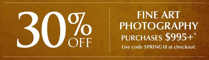 Enjoy 33% off fine art photography