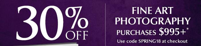Enjoy 30% off fine art photography
