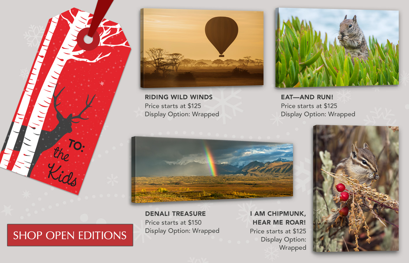 Open Edition Art make great gifts for everyone on your list!