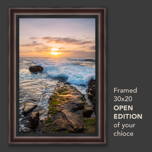 Register to Win - a 30x20 framed Open Edition