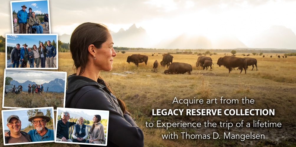Acquire art from the Legacy Reserve Collection to Experience the trip of a lifetime with Thomas D. Mangelsen.